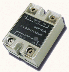 The relay is the solid-state, Solid-state SSR-1A