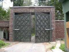 Ворота из метала с автоматикой