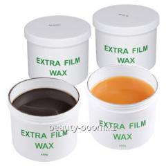 Hot wax of % for depilation in bank,