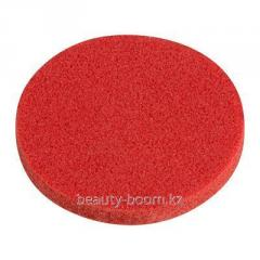 Sponzh for washing of natural round red, 1 piece,