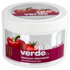 The rejuvenating mask for Spa Verde wrapping the