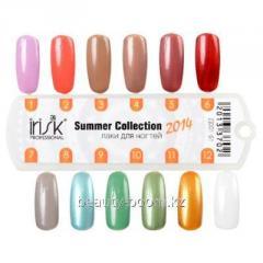 Color palette of a varnish of Irisk Summer