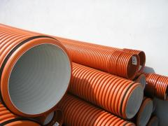 Corrugated pipes for sewer networks