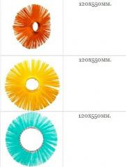 The disk is brush polypropylene, under a pro-rate,