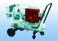 Compressor installation, electrodriving, mobile,
