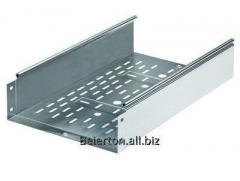 The tray punched 80х80 L 3000 thicknesses. 1,0 mm,