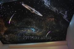 Натяжные потолоки звездное небо