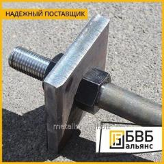 Anchor bolt anchor plate