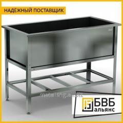 Ванна цельнотянутая приварная 330x330x200 art.C02.333320 (с отверстием Е 1 1/2) AISI 304