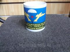 The airborne forces mug from white ceramics