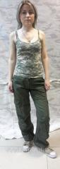 Trousers are female, camouflage