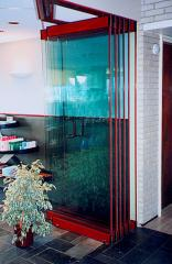 SLIDING PARTITIONS FROM GLASS