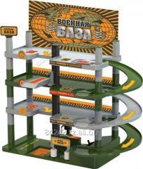 Автотранспортная игрушка Гараж Военная база