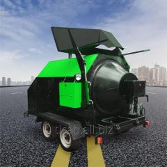 The car for production of asphalt concrete mix
