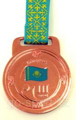 Medal bronze, relief for the 3rd place