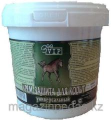 Veterinary cream protection for hoofs with