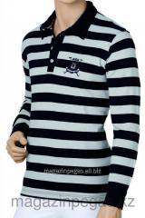 Tattini Striped polo-neck