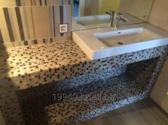 Countertops with the poured basin