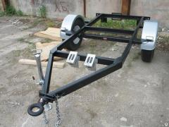 The trailer monoaxial PST without brakes