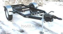 The trailer monoaxial PST with brakes