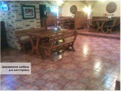 Wooden furniture for restaurants, cafe, private