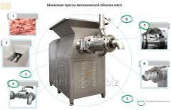 Shnekovye of the press of a mechanical boning