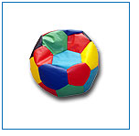 Ball a chair with granules