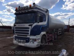 Tank trucks for gases