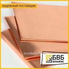 Лист медный 1,5х600х1500 М1М