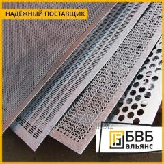 Leaf perforated corrosion-proof 08X18H10 EI119