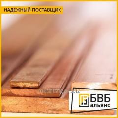 Strip of bronze 25х400х1200 Brkh1