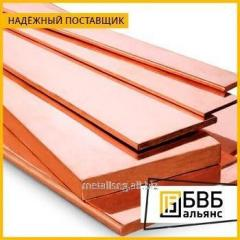 Strip copper 6x100x4000 M1T