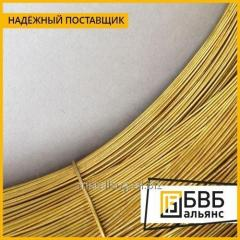Wire of L-80M of brass 1,5 mm