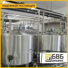 Production of tanks for the dairy industry