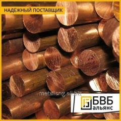 Bar of bronze 80 mm of BROF7-0,2