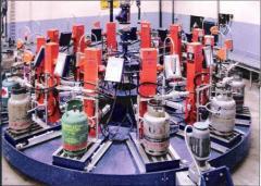 Карусельные установки для заправки газовых