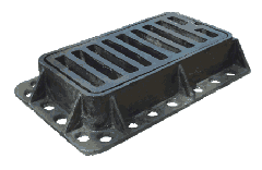 Storm water inlet small DM-1, Hatches pig-iron