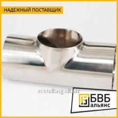 Stainless steel tee 63.5 h25h AISI 304 mirror 1.5