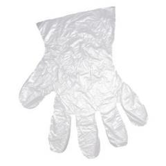 Gloves are polyethylene, Gloves cellophane,