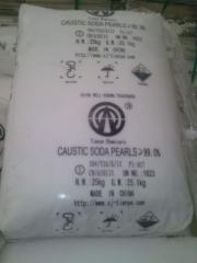 The caustic soda under the order