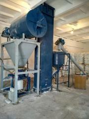 Equipment for production of dry construction mixes