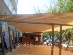 Membrane awning