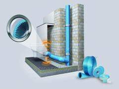 Noise-protective isolation for the sewer pipes