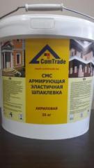 CМС армирующая эластичная шпаклевка для фасадного