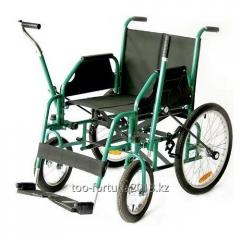 The wheelchair is walking,  lever for adults
