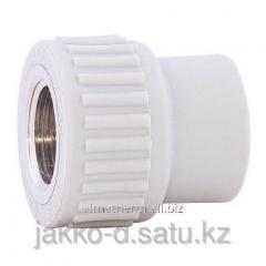Адаптер ППР с вн.рез.  серый 20x3/4 Jakko
