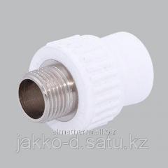 Адаптер ППР с нар.рез.  белый 25x1/2 Jakko