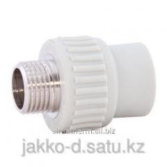 Адаптер ППР с нар.рез.  серый 32x1 Jakko