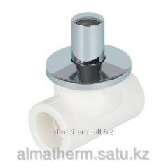Вентиль хромированный ППР LUX  белый 20 Jakko