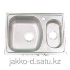 Мойка врезная гладкая левая (1,5) 0,6 mm 62x44 Donau